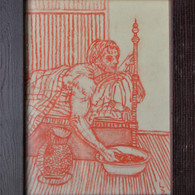Red chalk on paper A5