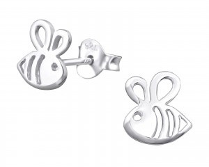 Sterling silver bees earrings.jpg