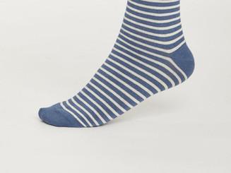 Blue stripe bamboo socks.jpg