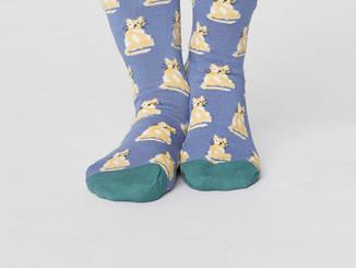 Blue Cute Cat Bamboo Socks.jpg