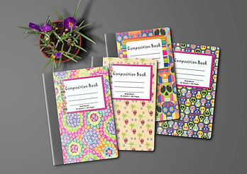 Day of the Dead Composition Books Mockup