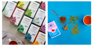 Picture showing Dragonfly herbal teas and Tick Tock rooibos tea