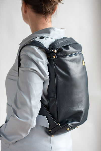 Navy leather backpack by AlderStyle.jpg