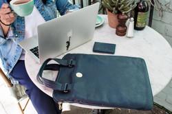 AlderStyle navy protective laptop sleeve