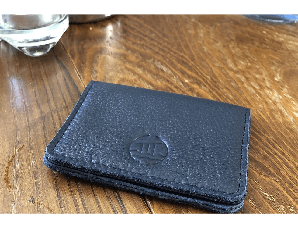 Luxury soft leather card wallet in presentation box