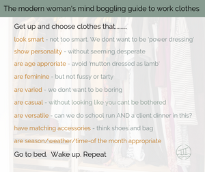 list of things to consider when a woman chooses her work clothes