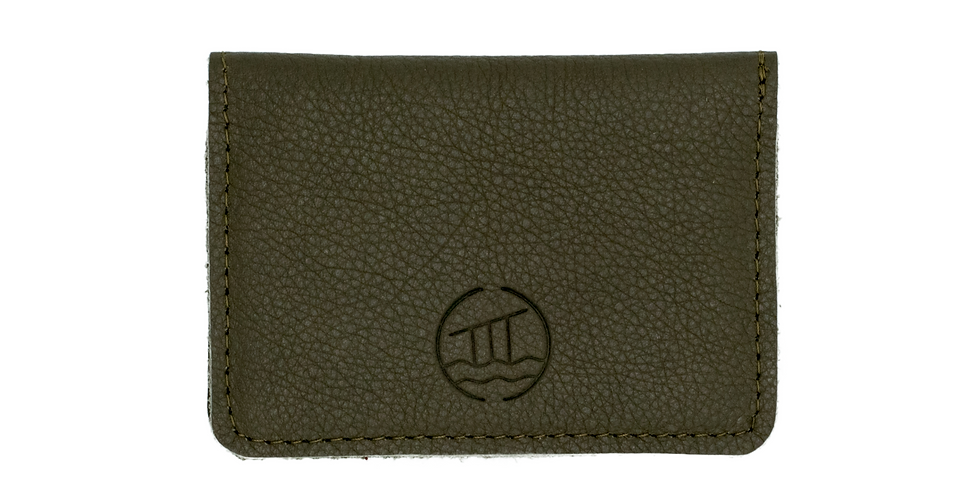 Smart Leather Card Wallet In Artisan Clay