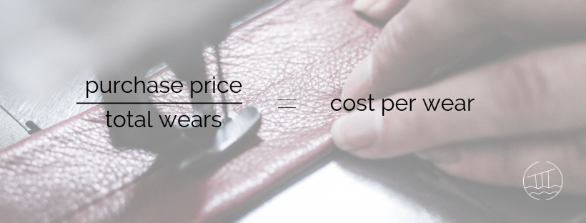 picture showing the cost per wear equation