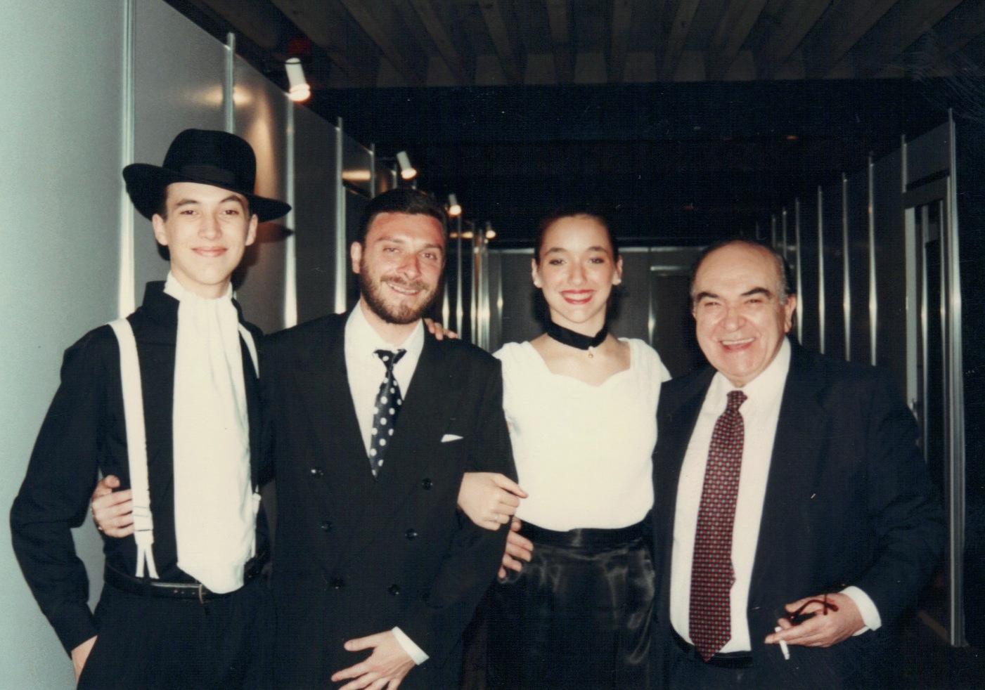 Avec L. Filipelli y Alberto Podesta