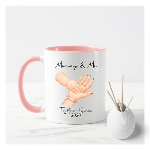 Mummy & Me mug with hands