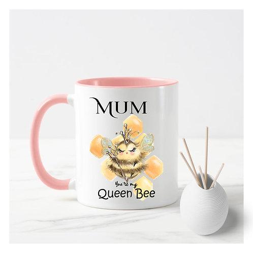 Mum Your my queen bee mug