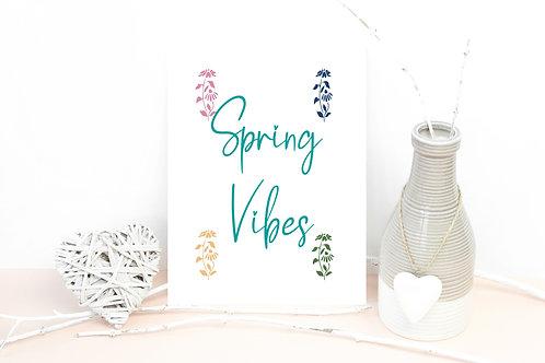 Spring Vibes Plantable A6 Postcard