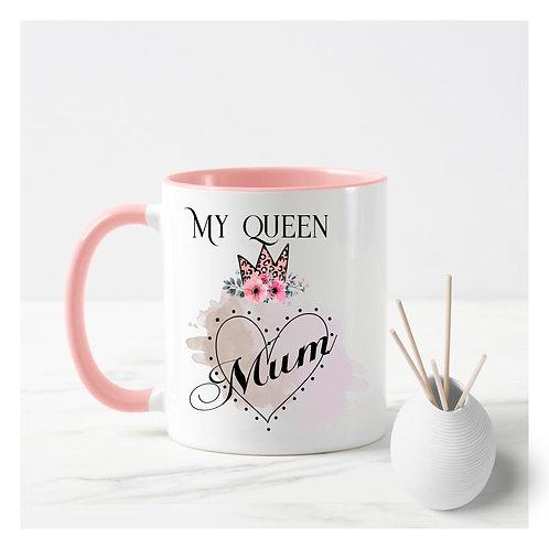 My queen heart mum mug