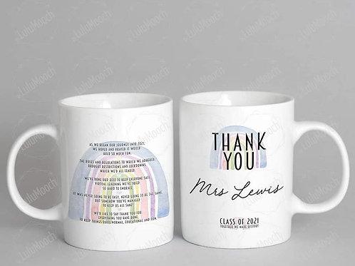 Thankyou teacher mug