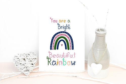 Plantable Rainbow Postcard