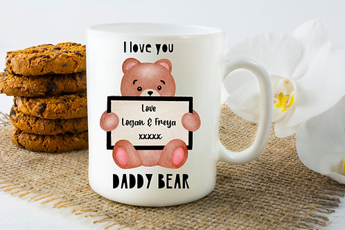 Daddy Bear Mug, Personalised