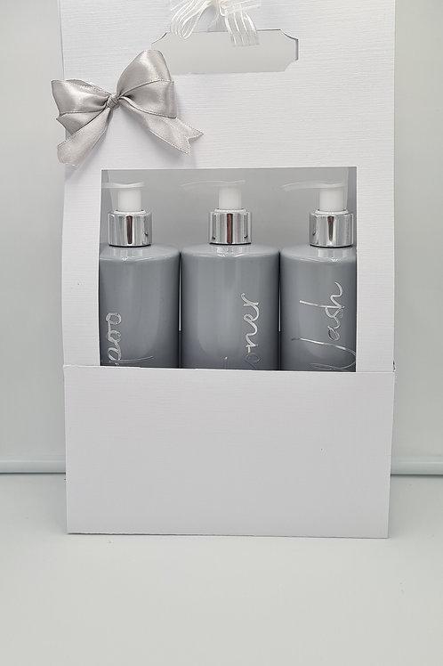 Grey Soap dispensers x 3