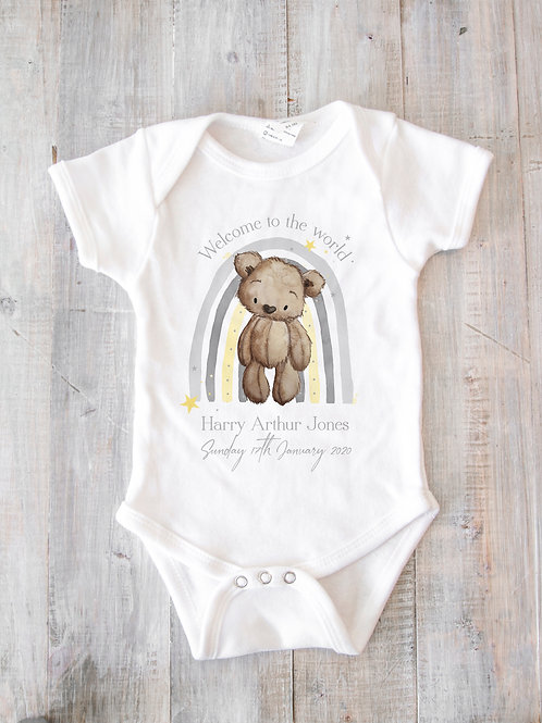 Welcome to the world Rainbow Bodysuit