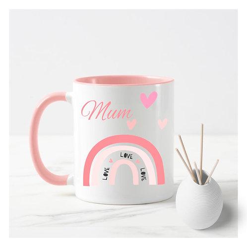 Personalised Love rainbow mug