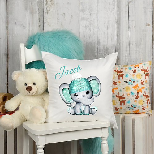 Personalised Elephant Nursery Cushion Cover
