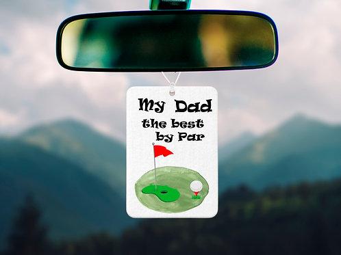 Dad, Par, Golf ,Car freshener,