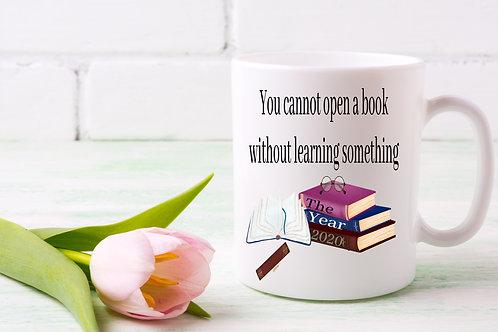 A cute year of the pandemic book mug