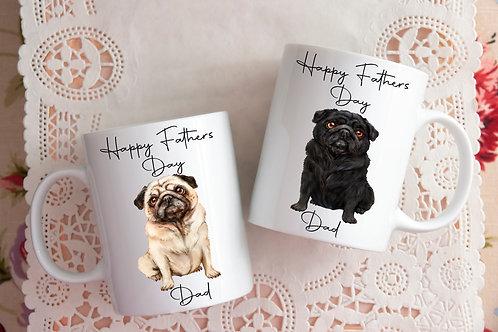 Pug Dad Fathers Day mug