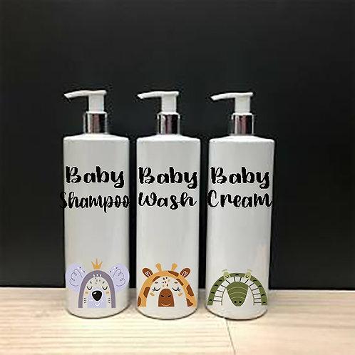 Rainbow Animals Set of 3 pump bottles