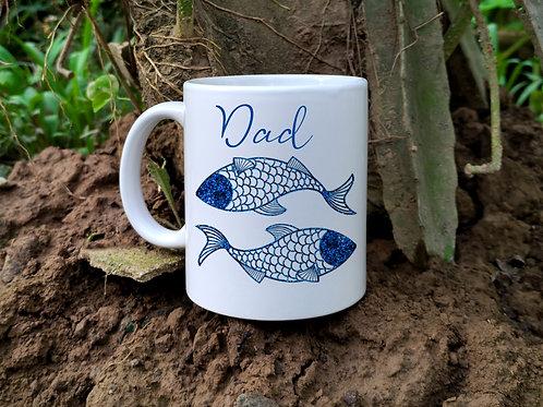 2 fish mug, personalised (Pisces Zodiac)