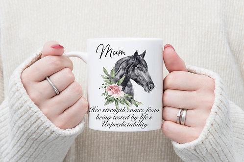 Lady Personalised horses head mug