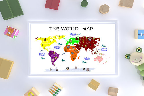 A3 Children's World Map unframed