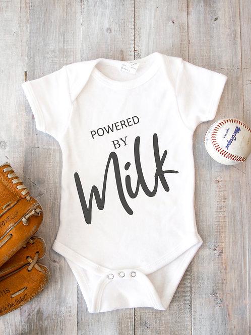 Powered by Milk Baby bodysuit