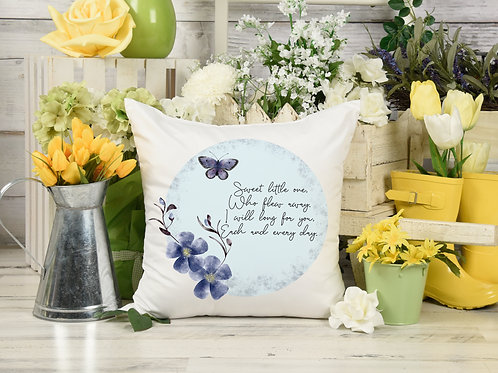 Memorial Butterfly cushion cover