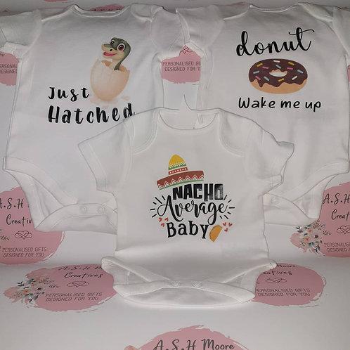 Set of 3 baby bodysuits