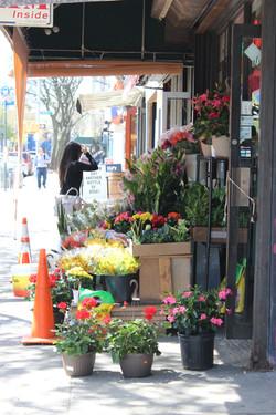 Outside Miss Li's Grocery