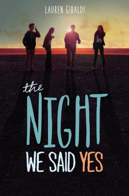 Celebrating Lauren Gibaldi and The Night We Said Yes