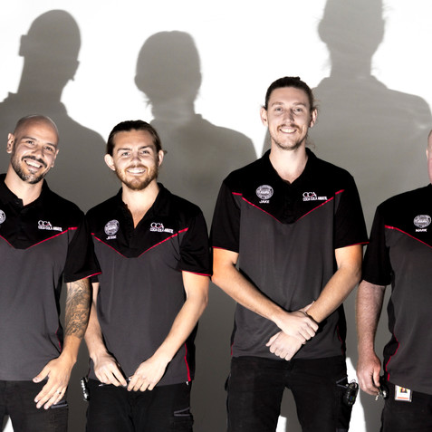 The usual suspects, a fun shoot for a service team at CCA