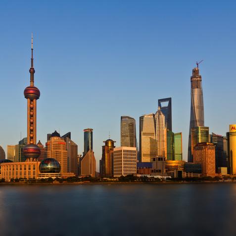 The Bund, Shanghai, China, modern side
