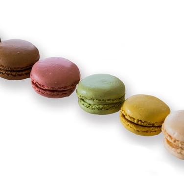 Macarons on white