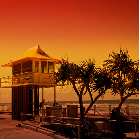 Life saving Hut, Surfers Paradise, Gold Coast, Australia
