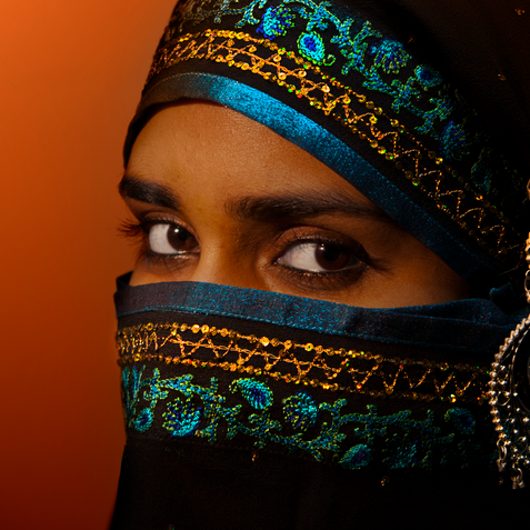Young lady in traditional dress
