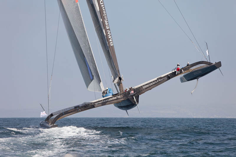 trimaran flying