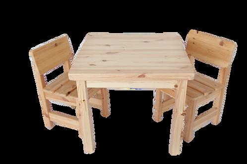 סט: שולחן + 2 כיסאות