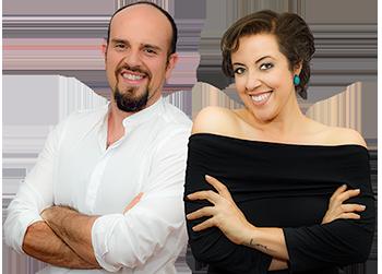 Socios Andre Stefano e Suellen Ramos