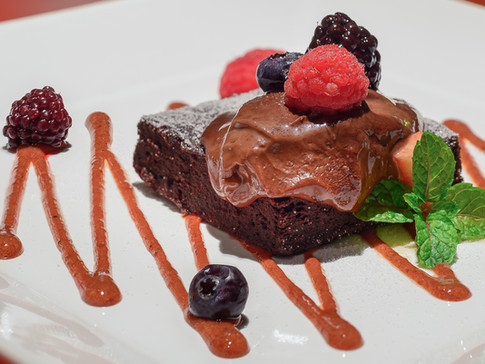 Brownie de Chocolate com Frutas Vermelhas