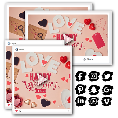 Valentine's Day Image and Video Bundle
