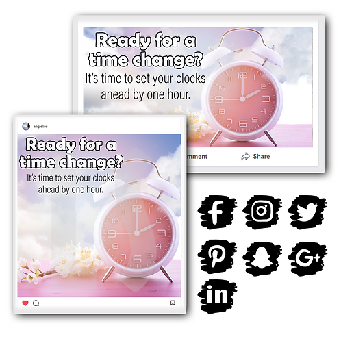 Spring Daylight Savings Time Graphics Bundle