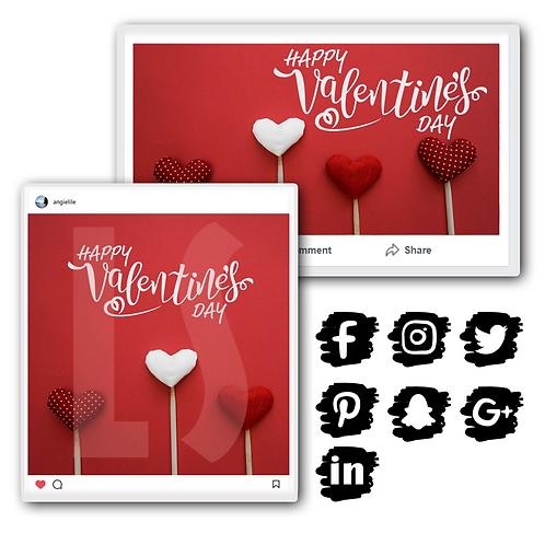 Valentine's Social Media Graphics Bundle