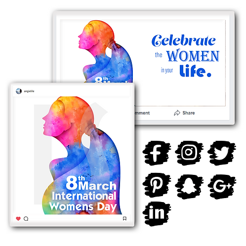 Women's Day Holiday Graphics Bundle