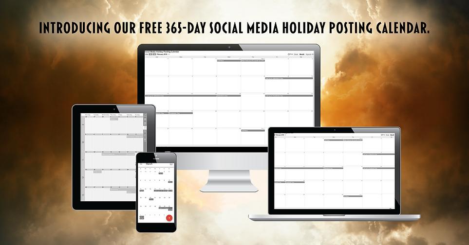 Free 365-Day Social Media Holiday Posting Calendar Dowload